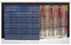 Schéma d'un panneau solaire hybride