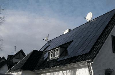 Panneaux solaires Suntech sur habitation