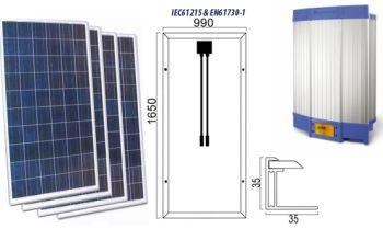 Kit solaire avec injection réseau Solar-kit