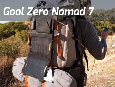 Un Chargeur solaire portable de type Goal Zero Nomad7