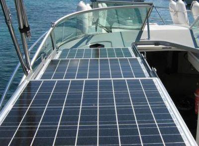 panneaux solaires fixes pour bateaux par New Concept For Boat