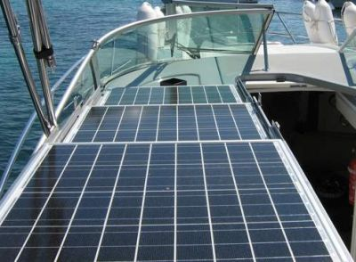 paneles solares fijos para barcos por concepto nuevo para Barco