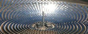 Une centrale électrique solaire