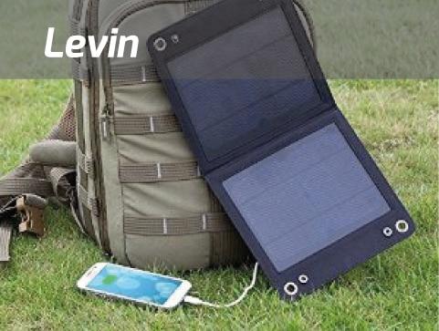 Un chargeur solaire portable de marque Levin 7W