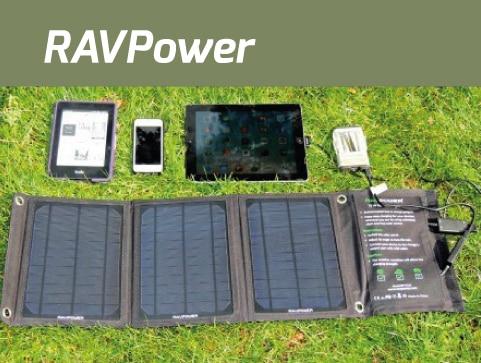 Un chargeur solaire portable de 15W